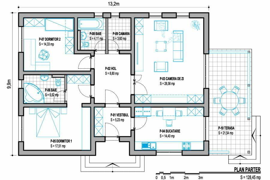 Diferența între suprafață utilă și construită